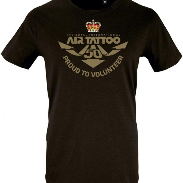 Protected: Unisex T-shirt – large print (gold) left chest/Trust logo print left sleeve