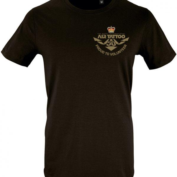 Protected: Unisex T-shirt – small print (gold) left chest/Trust logo print left sleeve