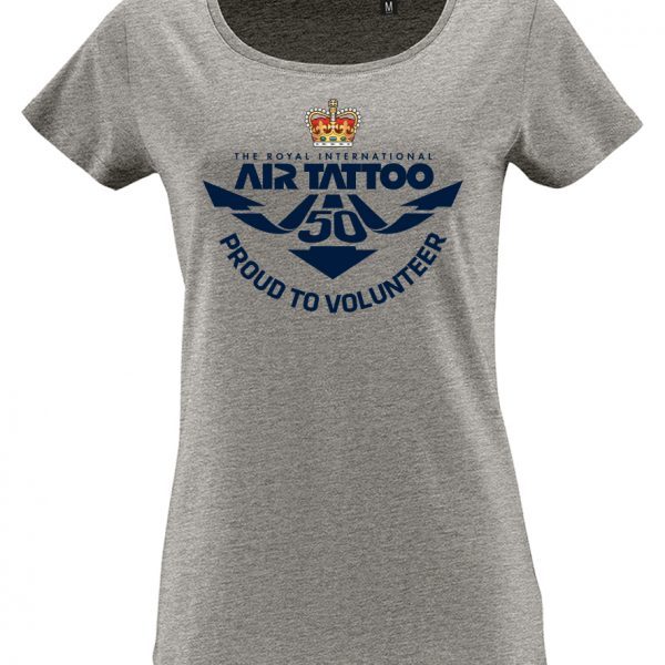 Protected: Ladies T-shirt – large print (blue) front/Trust logo print left sleeve